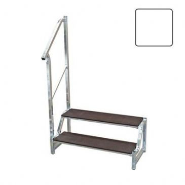 FREE-STANDING 2 TREAD STEP WHITE